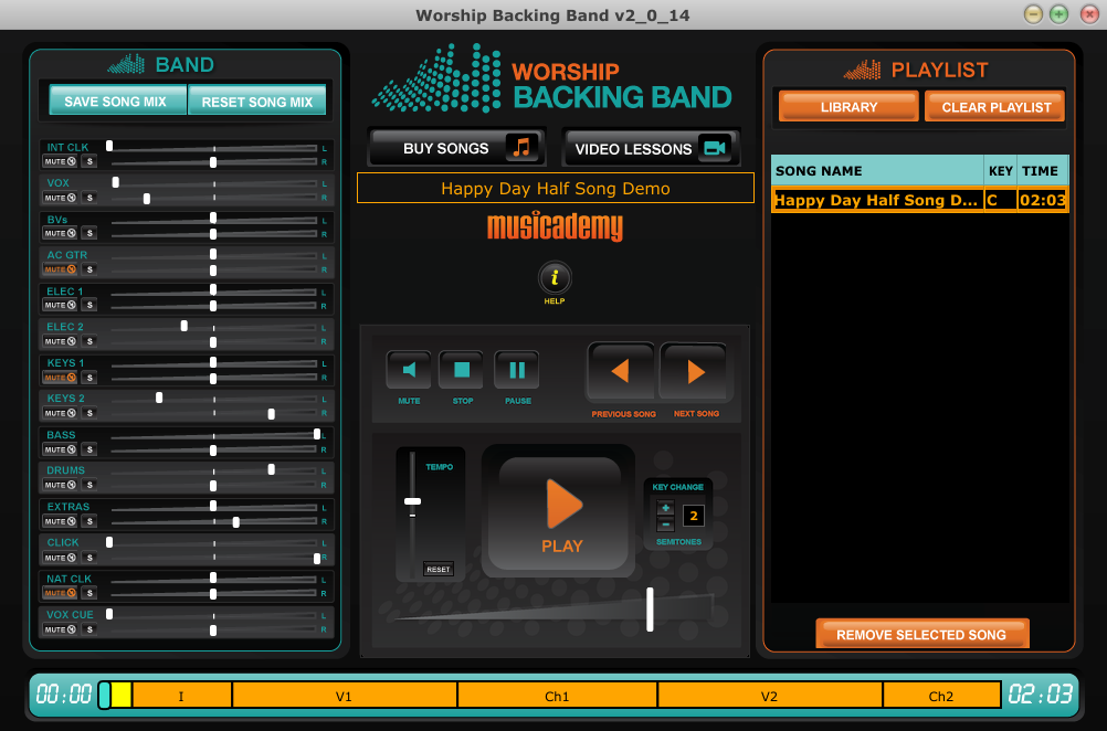 Worship Backing Band MultiTrack Player