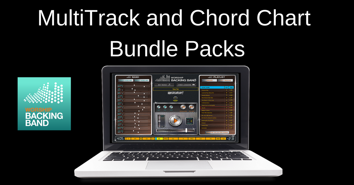 New MultiTrack, Split Track and chord chart bundle packs: great savings for the top selling songs