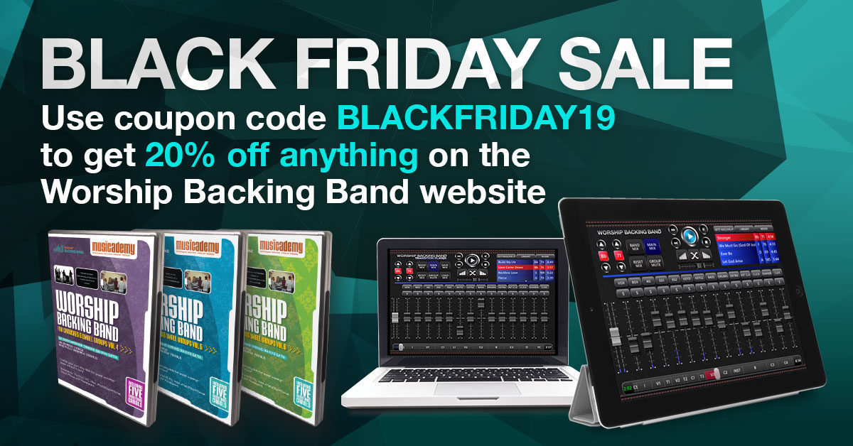 Black Friday Sale: Everything at Worship Backing Band is 20% off