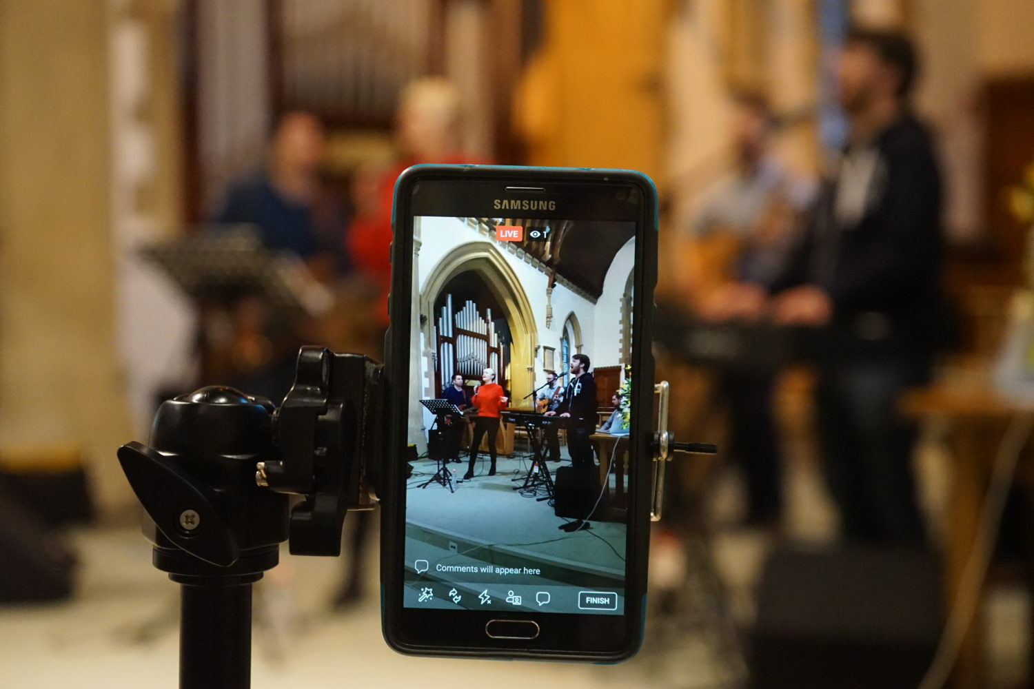 Using Worship Backing Band for Livestreaming Songs