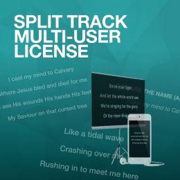 Multi-User License for Split Tracks (one PER track)